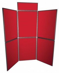6 Panel Freestanding Display System