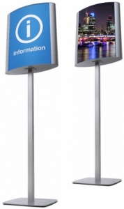 Curved Freestanding Information Point / Menu Stand
