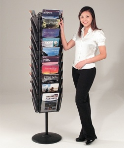 Mesh Finish Freestanding Literature Dispenser
