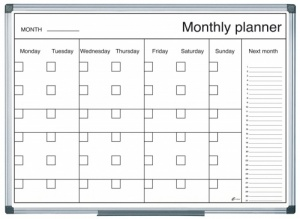Magnetic Drywipe Month Planner