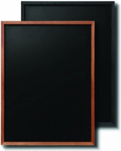 Narrow Frame Teak and Black Chalkboards