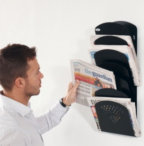 Steel 7 Packet Wall Mounted Literature Rack