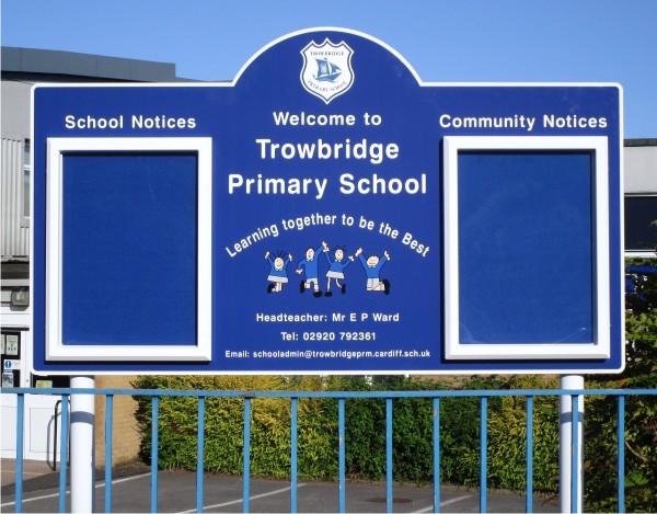 Double Superior External School Notice Board Signs 4 Schools