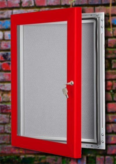 Wall Mounted Lockable Felt Notice Board Signs 4 Schools