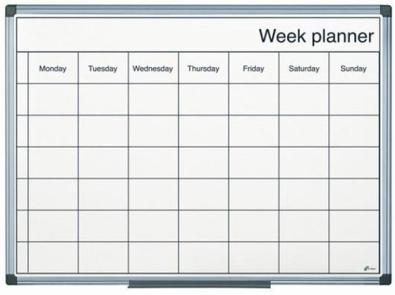 Magnetic Drywipe Week Planner Signs 4 Schools