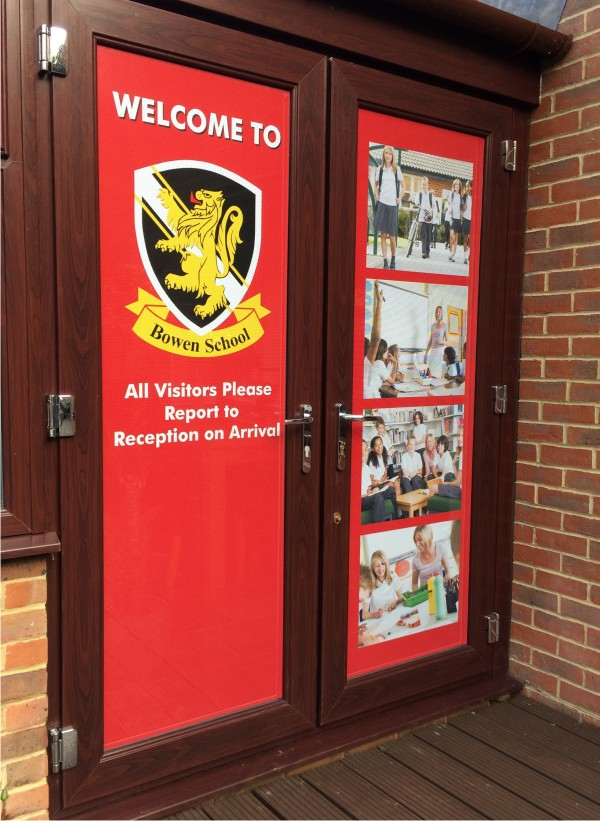 One Way Window Graphics Signs 4 Schools