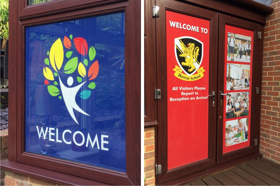 One Way Door & Window Vinyl Graphics for Schools