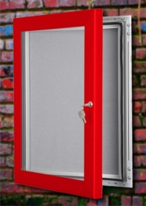 Wall Mounted Lockable Felt Notice Board