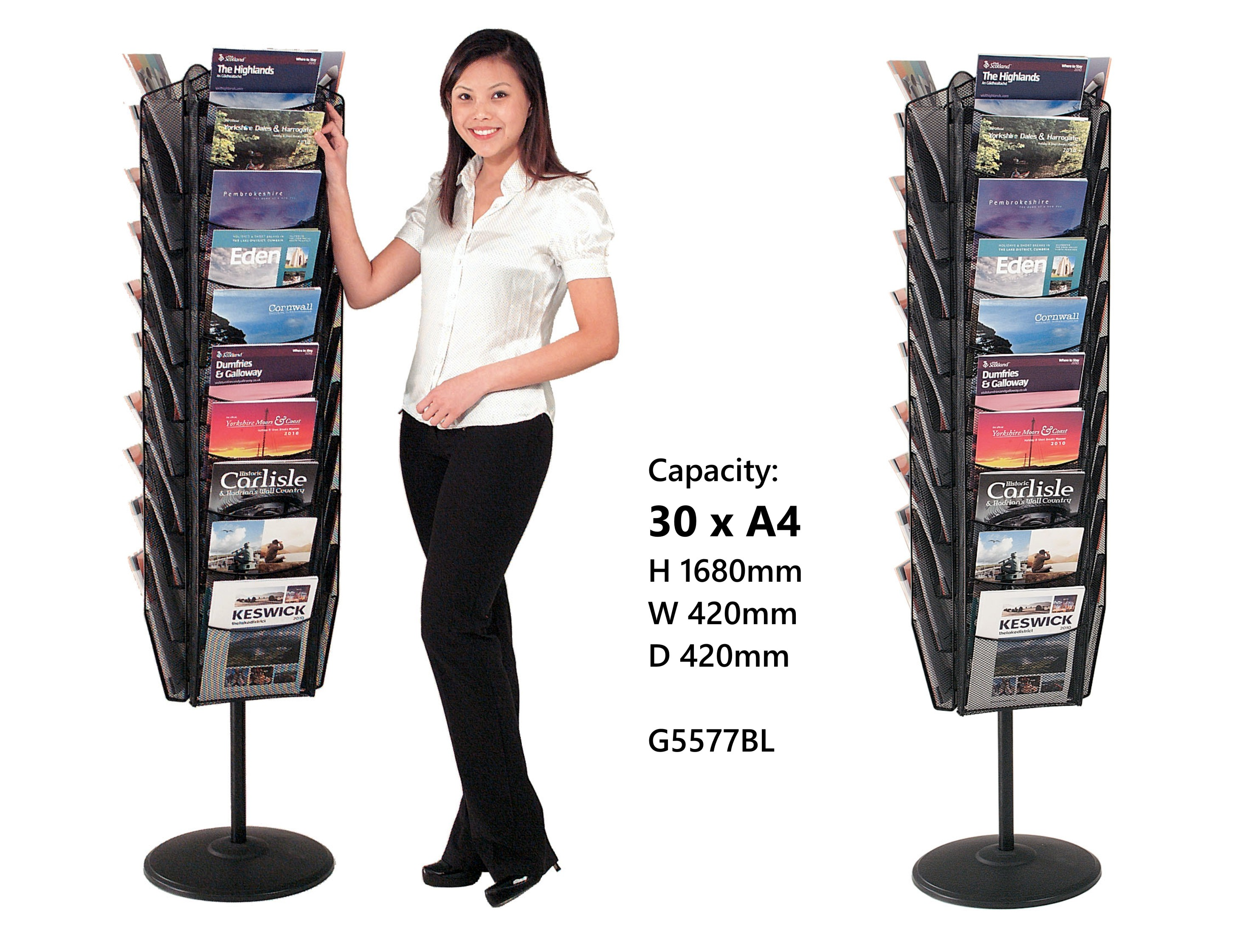 Mesh Revolving Freestanding Literature Dispensers