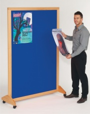 Mobile Wood Framed Notice Board