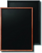 Teak and Black Wall Mounted Chalkboards