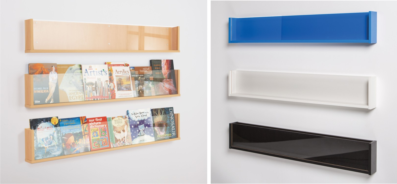 Shelf Style Wall Mounted Literature Display