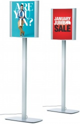 A3 Curved LED Illuminated Double Sided Sign Post