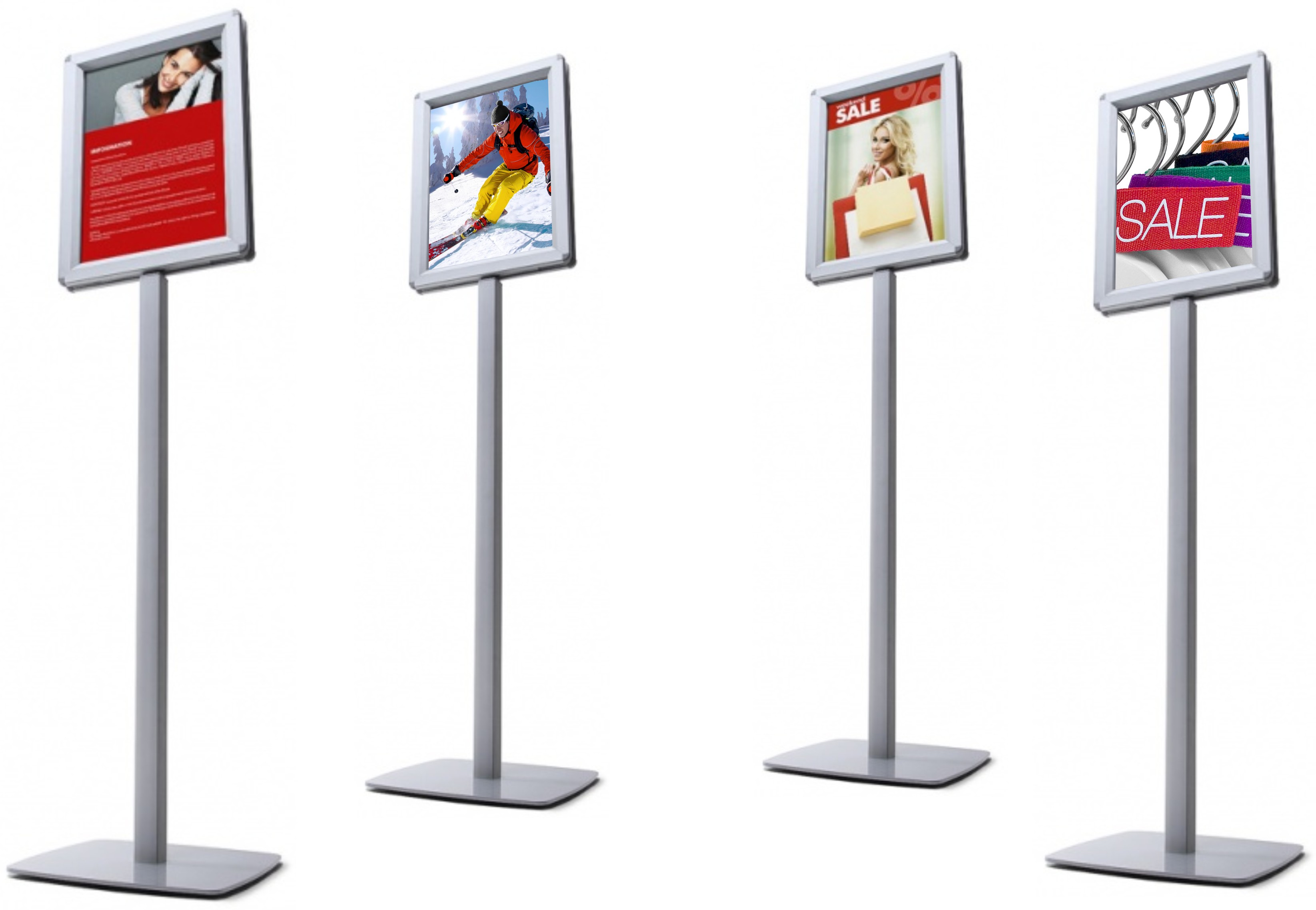 Freestanding Telescopic Menu Holders