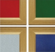 Slimline Wood Effect Felt Notice Board