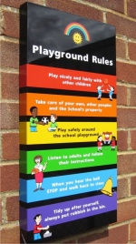 Box Tray Play Area School Signs