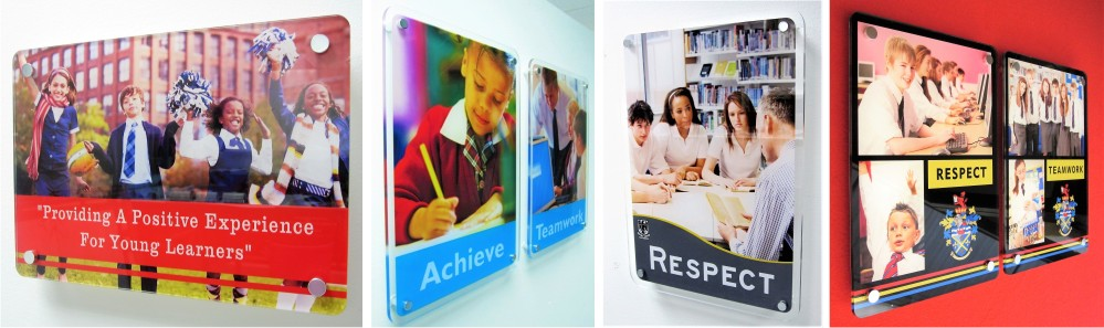 Clearview Stand Off Acrylic School Signs
