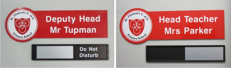crest acm door signs
