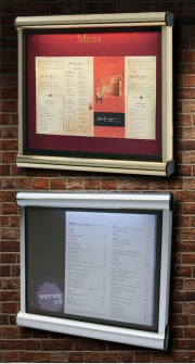 The Scroll Wall Mounted Illuminated Menu Case