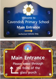 Wall Mounted ACM School Signs
