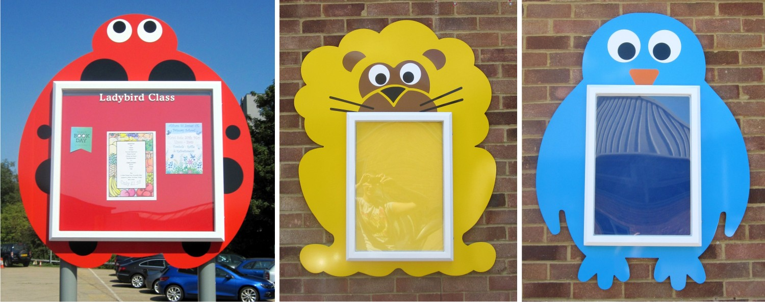 Squiggle Child Friendly School Notice Boards