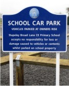 Broad Lane Primary School Stapeley Sign