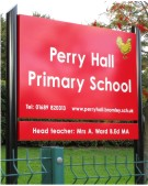 Perry Hall Primary School Sign