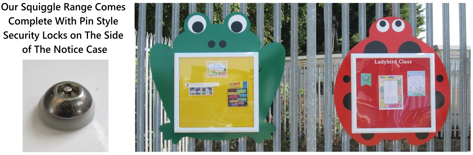 Squiggle Outdoor School Notice Boards