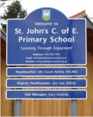 St Johns CofE Primary School Sign