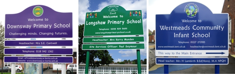 school welcome signs Infant and Primary Schools