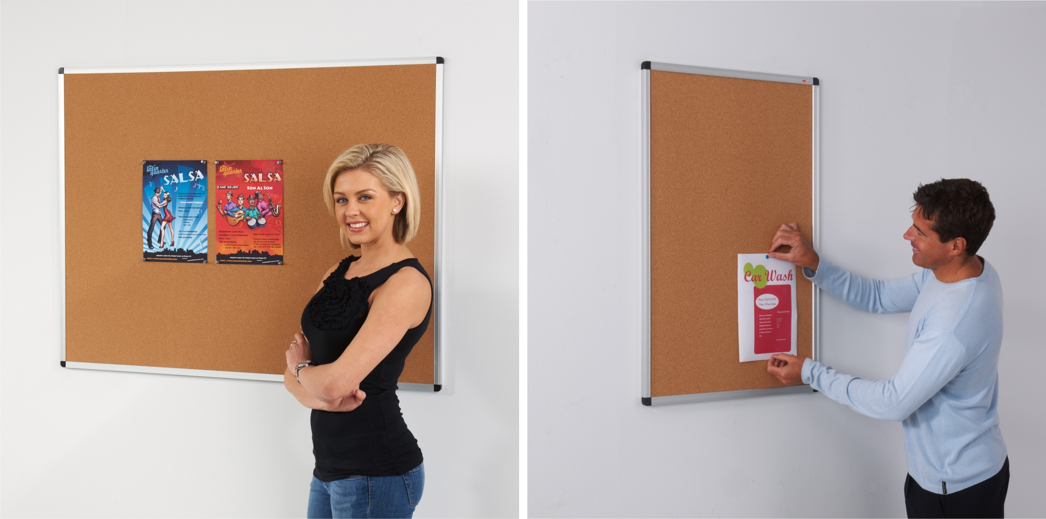 The Metro Aluminium Framed Cork Notice Board
