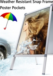 Weather Resistant Snap Frame Poster Pockets