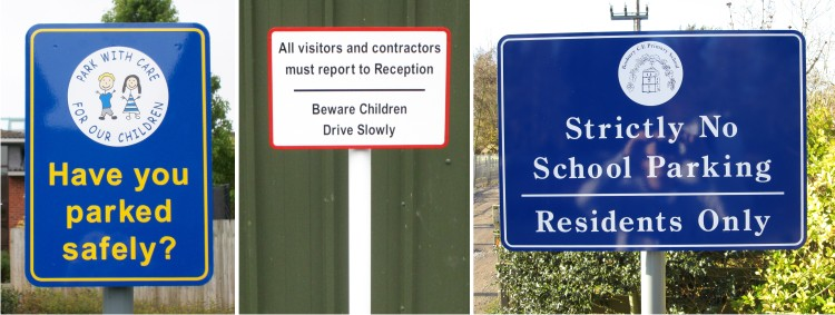 post mounted general school notice signs