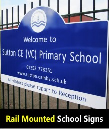 Signs for Schools - Railings
