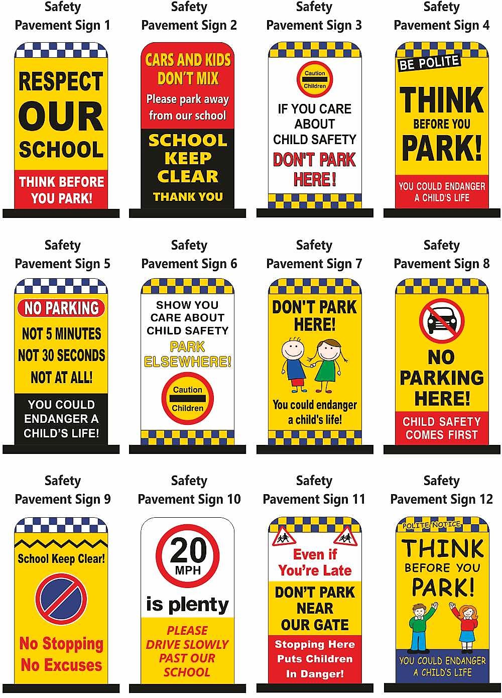 School Pavement Safety Signs
