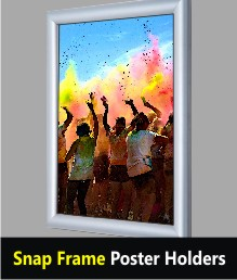Snap Frame Poster Displays