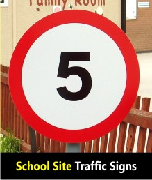 School Site Traffic Signs