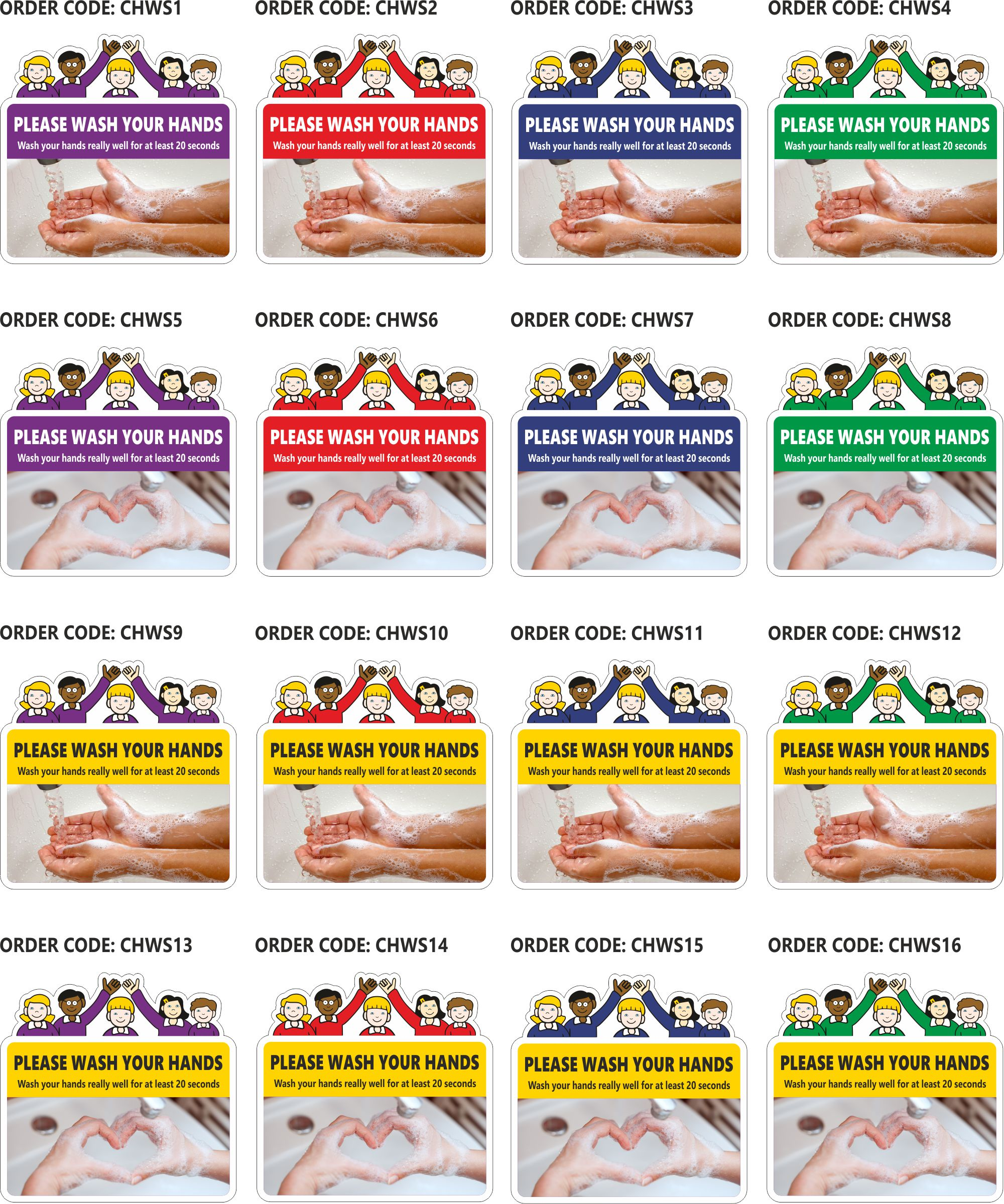 child friendly handwashing signs