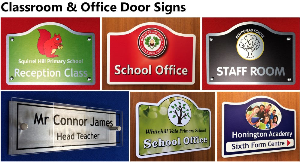 Classroom and Office Door Signs
