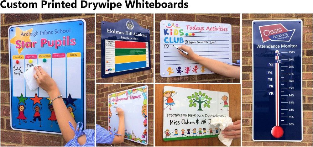 Custom Printed Drywipe Whiteboards