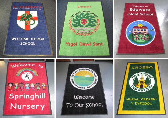custom printed school entrance mats
