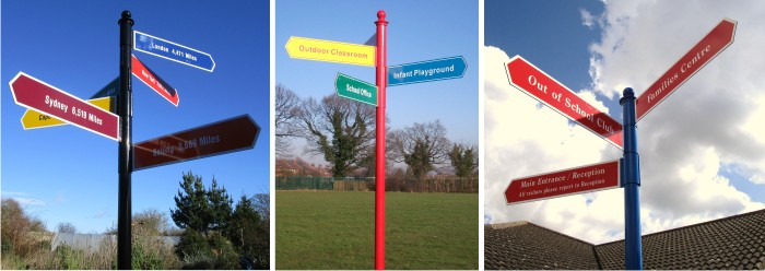wayfinding fingerpost signs