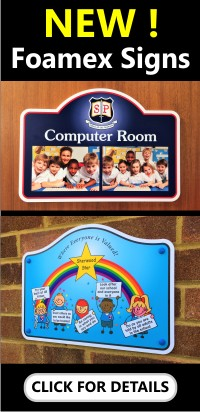 Foamex School Signs