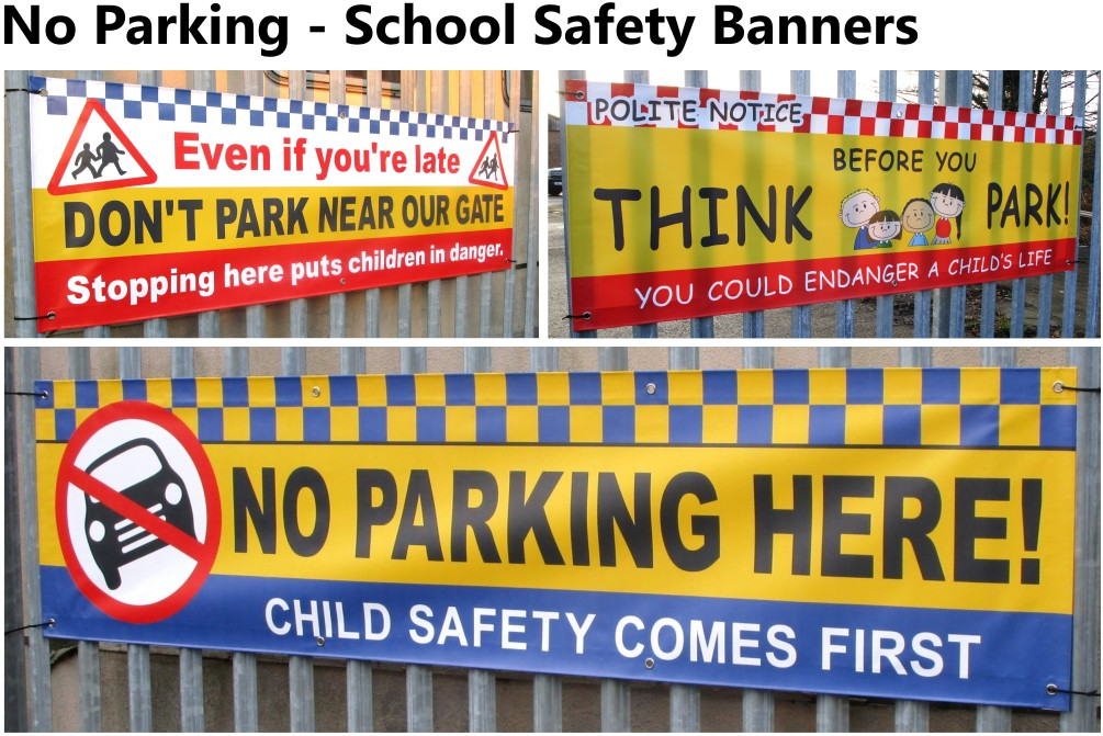 School Parking Banners