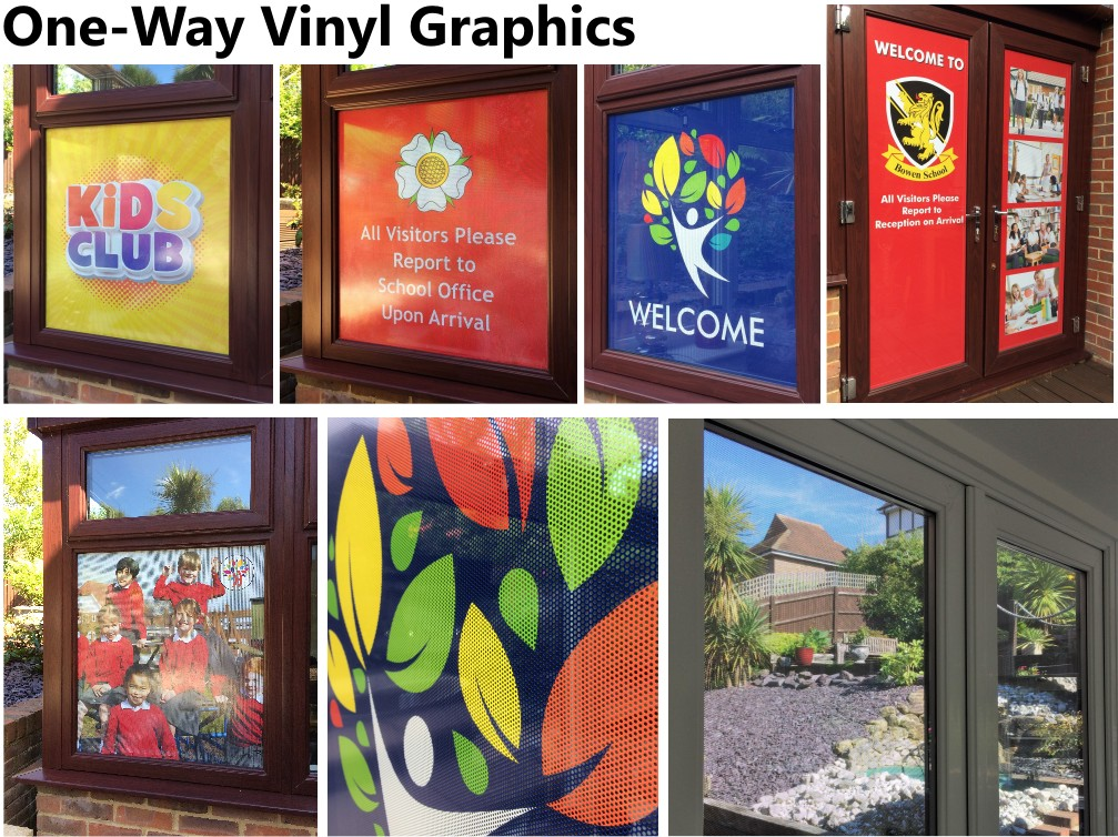 One Way Printed Vinyl Graphics for Schools