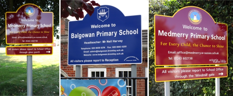 Medmerry Primary School and Balgowan Primary School Signs