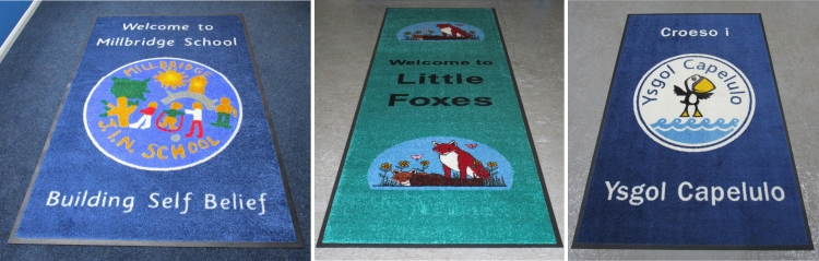 printed school entrance mats