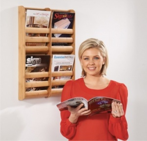 Bamboo Wall Mounted Literature Dispensers