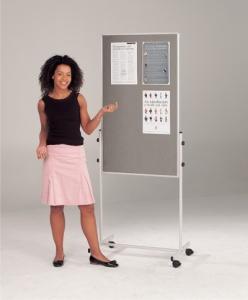 Combi Mobile Information Whiteboard / Noticeboard