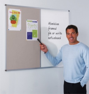 Metro Aluminium Framed Combination Notice Board